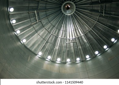 Metallic large elevator booths inside