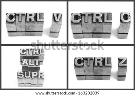 metallic letters delete copy and paste