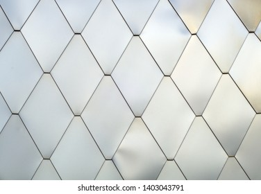 metallic lozenges texture pattern silver shiny tiles