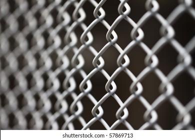 metallic net with black background