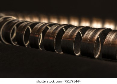 Metallic Object Close up
