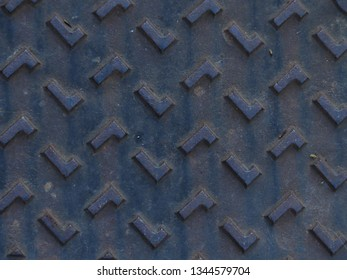 Metallic Pattern With The Letter L