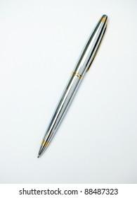 Metallic pen isolated