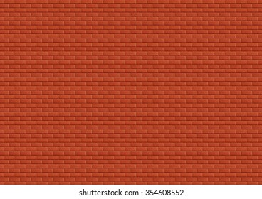 Metallic red brick wall with rough texture, abstract background.