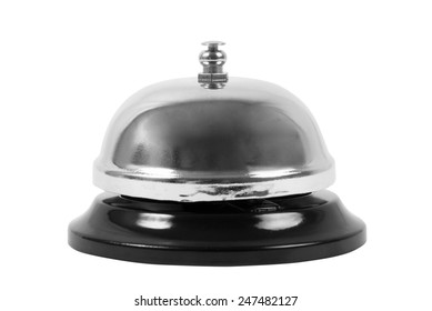 metallic ring bell on white
