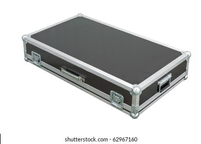 Metallic rivets of a road case (for transporting music and lightning equipment).