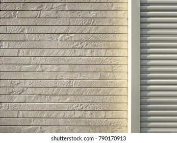 Metallic roll up door background