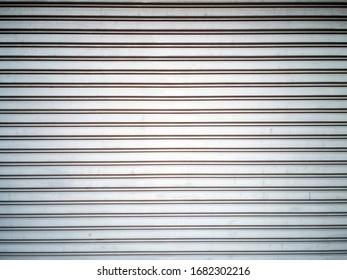 metallic roller shutter door.Corrugated Metal horizontal pattern