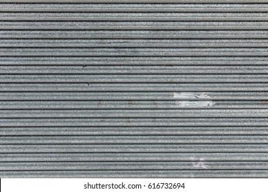 Metallic roller shutter texture