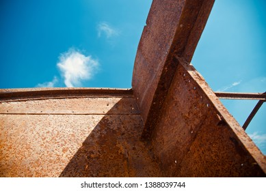 A metallic structure with blue sky background photo