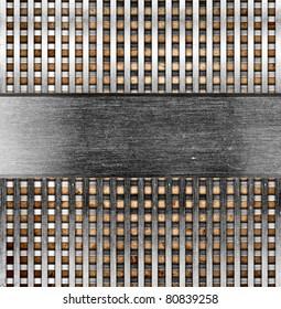 Metallic template background