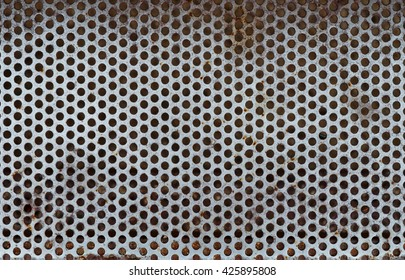metallic texture with spots of rust