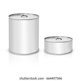 Metallic Tin Cans