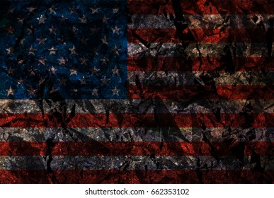 Metallic USA flag