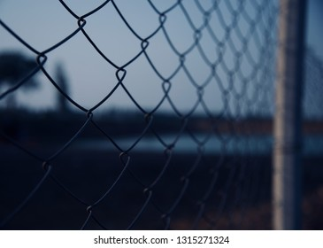 Metallic wires of a protection fence isolated object photo