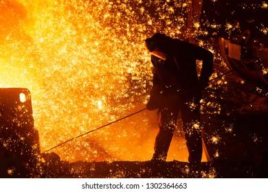 Metallurgist at work