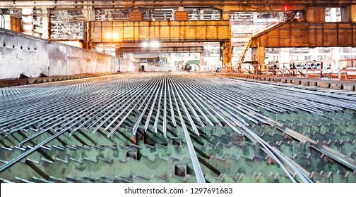 Metallurgy industry. Rolling mill. The valve is cooled after rolling.