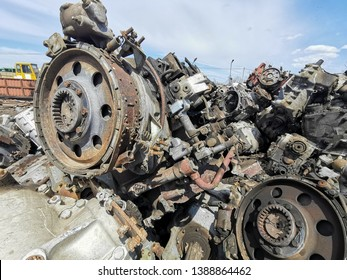 Metals scrap yard, processing of ferrous and non-ferrous scrap metals