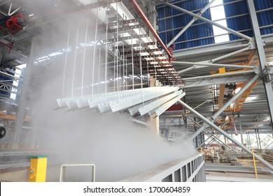 metalworking industry: finishing metal working on horizontal surface grinder machine