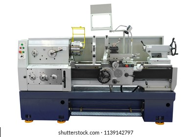 metalworking lathe Isolated under the white background
