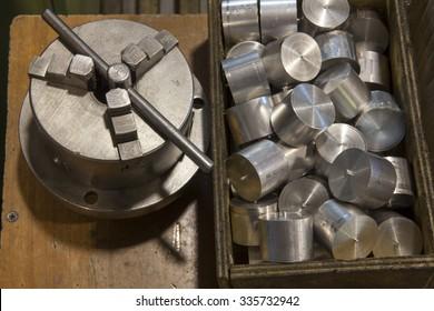 metalworking tools in the workshop