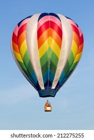 METAMORA, MICHIGAN -?? AUGUST 24 2013: Colorful hot air balloons launch at the annual Metamora Country Days and Hot Air Balloon Festival.