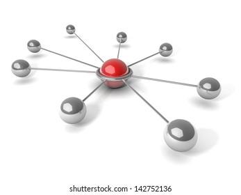 Metaphor of communication. 3d illustration. Concept.