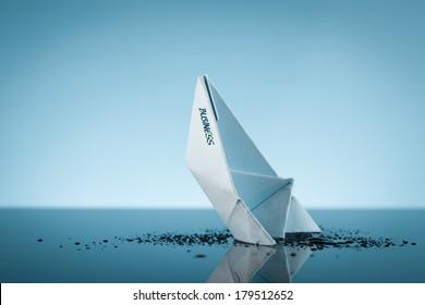 Metaphor of declining business (organization) as sinking ship.