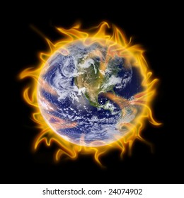 Metaphor of global warming for the earth