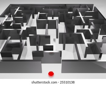 metaphoric image, ball in labyrinth