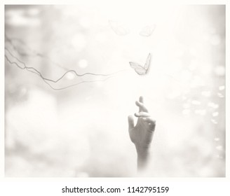 Metaphorical ethereal background. Follow your dreams.