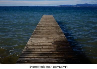Metaphysical Pier on a Lake