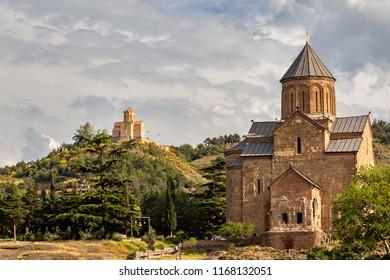 Metekhi Church in Tbilisi,Georgia