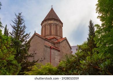 Metekhi temple on the Bank of Kura in Tbilisi. Orthodox church on the banks of the Kura river - Shutterstock ID 1928010359