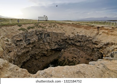 Meteor crater located between Dogubeyazit, Turkey, and Turkey's border with Iran