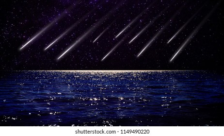 Meteor at sea, The meteor shower is a natural sight and hides horror.