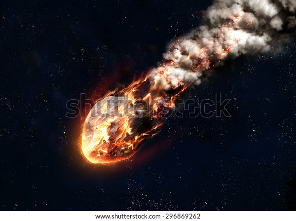 La pioggia di meteoriti. Elementi di questa immagine fornita dalla NASA