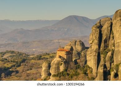Meteora in Greece. A beautiful touristic destination.