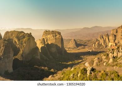 Meteora in Greece. A beautiful travel destination.