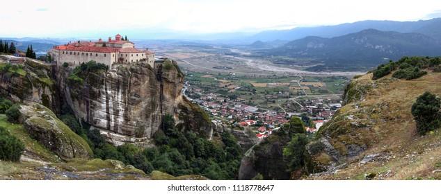Meteora, Greece. Monasteries built on top of huge rocks.