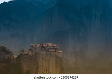 Meteora Greece's sacred mountains. A historic area of interest.