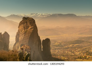 Meteora at Kalambaka in Greece. A place of historic interest.