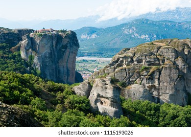 the meteora monasteries attic greece and thessaly europe
