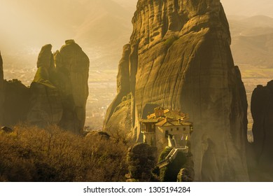 Meteora monasteries in Greece. A beautiful travel destination.