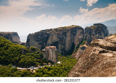 Meteora Monasteries is one of the largest and most important complexes of Greek Orthodox monasteries in Greece