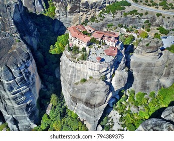 Meteora Monastery in Greece from above