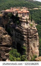 Meteora monastery region of the village of Kalambaka Greece.