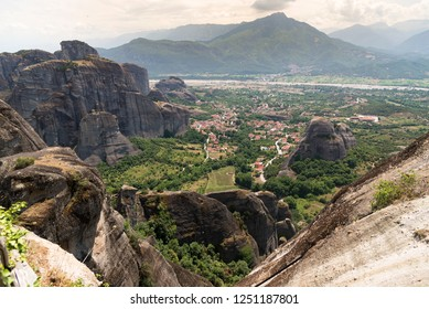 Meteora region of the village of Kalambaka Greece.