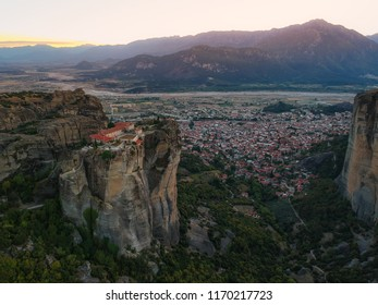 The Meteora is a rock formation in central Greece hosting one of the largest and most precipitously built complexes of Eastern Orthodox monasteries. It is included on the UNESCO World Heritage List.