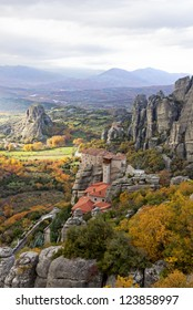 Meteora Rocks and Monasteries in Trikala region, Greece